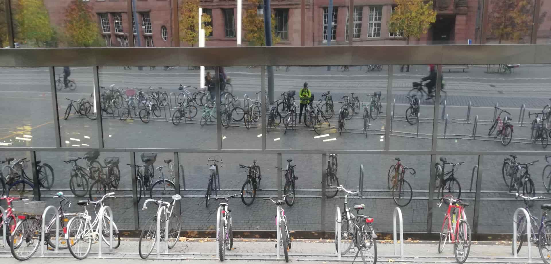 Fahrräder vor der UB Freiburg
